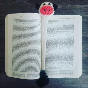 Crochet Cow Bookmark